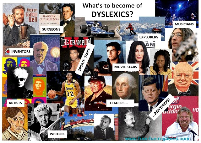 Dyslexic persons are logical learners